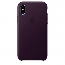 Чехол для iPhone Apple iPhone X Leather Case Dark Aubergine